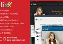 Attixx -響應公司HTML主題