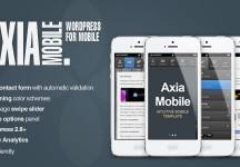 Axia觸控行動手機 – 公司企業觸控行動手機   WordPress & HTML5