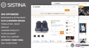 Sistina – Flat 多用途網路開店版型主題