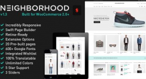 Neighborhood – 響應式技術多用途 Shop 網站版型主題