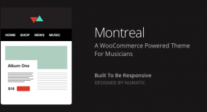 Montreal – WooCommerce  音樂網站版型主題