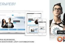 Superweb | HTML5引導網站模板