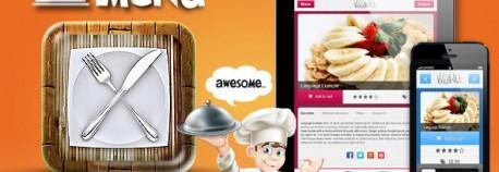 iMenu – Restaurant 平版電腦 與 觸控行動手機 視網膜螢幕技術 Menu