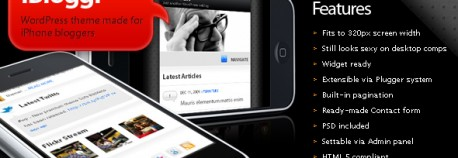 SOFA iBloggr – WordPress iPhone 網站版型主題