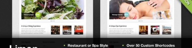 利——一個餐廳和水療WordPress主題