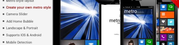 Metro 觸控行動手機 頂級優質 WordPress 觸控行動手機 網站版型主題
