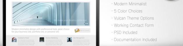 Vulcan – Minimalist 企業商務 WordPress 網站版型主題 4