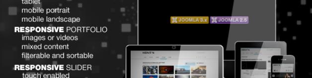 肯特強大的響應模板為Joomla !
