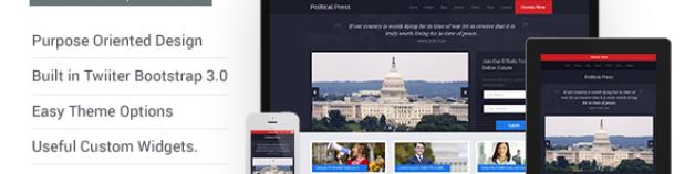 政治新聞-響應的WordPress主題