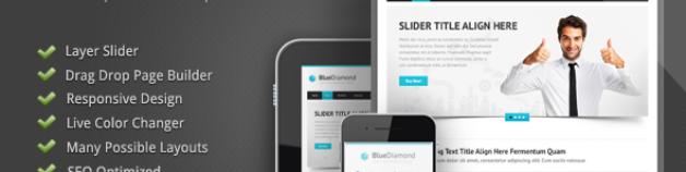 Blue Diamond – 響應式技術公司企業WordPress 網站版型主題