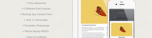 Stacker – 響應式技術WordPress 網站版型主題