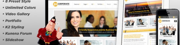 JM公司,響應業務模板Joomla