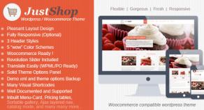 Justshop – Cake,Bakery,Drinks Shop WordPress 網站版型主題