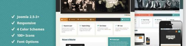 Rhubarber Joomla模板,響應