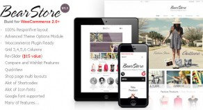 BearStore – Multipurpose Ecommerce 網站版型主題
