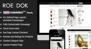 WooCommerce WordPress 網站版型主題 – RoeDok