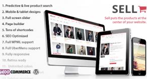 Sell: 響應式技術eCommerce WordPress 網站版型主題