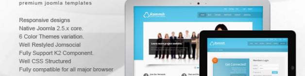 Rammih JomSocial Joomla模板,響應