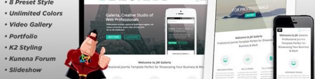 "JM""、積極、創造性的Joomla模板"