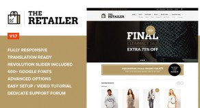 The Retailer – 視網膜螢幕技術 響應式技術WooCommerce 網站版型主題