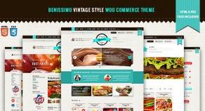 Benissimo — Vintage Style WooCommerce 網站版型主題