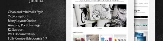 Meltas -清潔和簡約的Joomla模板