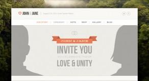 婚禮-響應的單頁WordPress主題