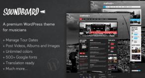 響板,溢價WordPress主題音樂