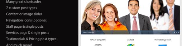 Classy 企業商務 & 產品作品展示 WordPress 網站版型主題