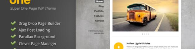 Slide One – One Page Parallax, Ajax WordPress 網站版型主題