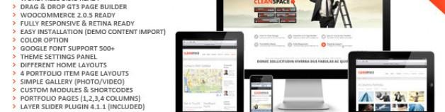 CleanSpace 視網膜螢幕技術 Ready 企業商務 WordPress 網站版型主題