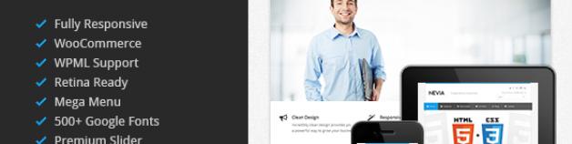 Nevia – 響應式技術多用途 WordPress 網站版型主題
