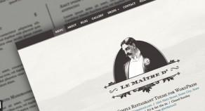 勒(Maitre d':超級簡單的餐廳WP主題