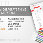 RT-網站版型主題 10 / 企業商務 網站版型主題 10 in 1 For WordPress
